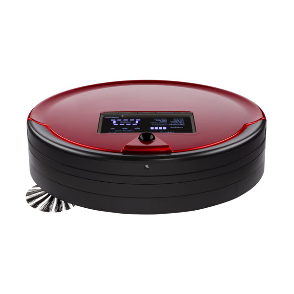 Bob PetHair Plus Robotic Vacuum Cleaner and Mop front view in rouge