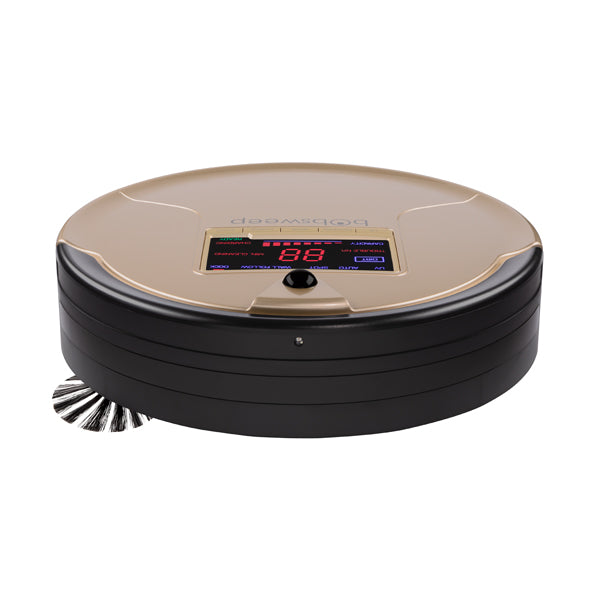 bObsweep PetHair Robotic Vacuum Cleaner and Mop front view in champagne