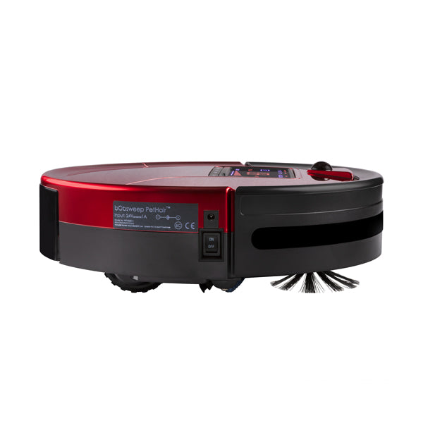 bObsweep PetHair Robotic Vacuum Cleaner and Mop front view in rouge