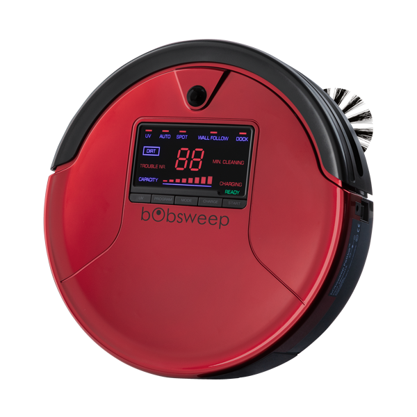 bObsweep PetHair Robotic Vacuum Cleaner and Mop angled view in rouge