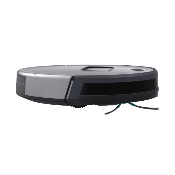 Bob PetHair Vision Robotic Vacuum Cleaner in steel side view