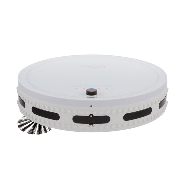 bObi Classic Robotic Vacuum Cleaner and Mop in snow front view