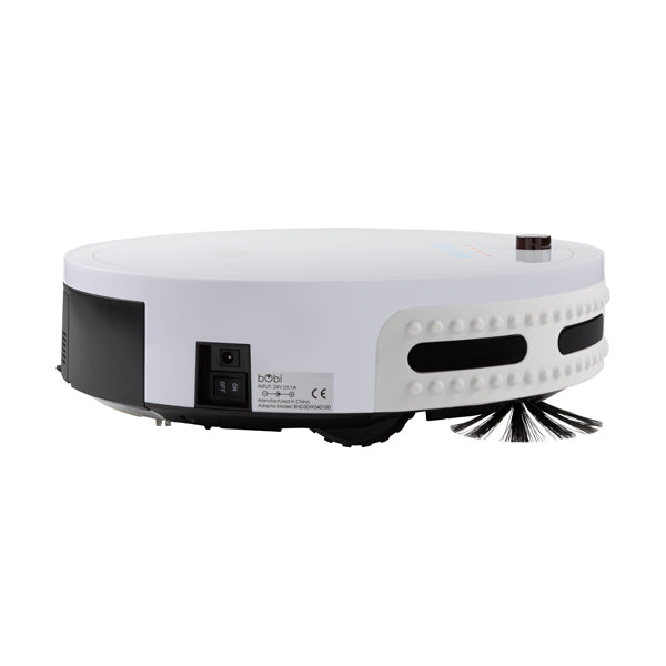 bObi Classic Robotic Vacuum Cleaner and Mop in snow side view