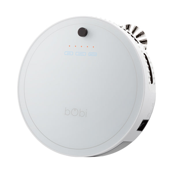 bObi Classic Robotic Vacuum Cleaner and Mop in snow angled