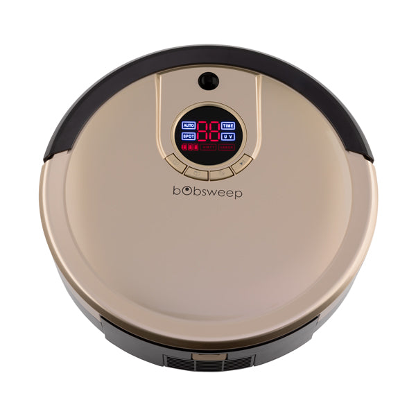 Bob Standard Robotic Vacuum Cleaner and Mop in champagne top view