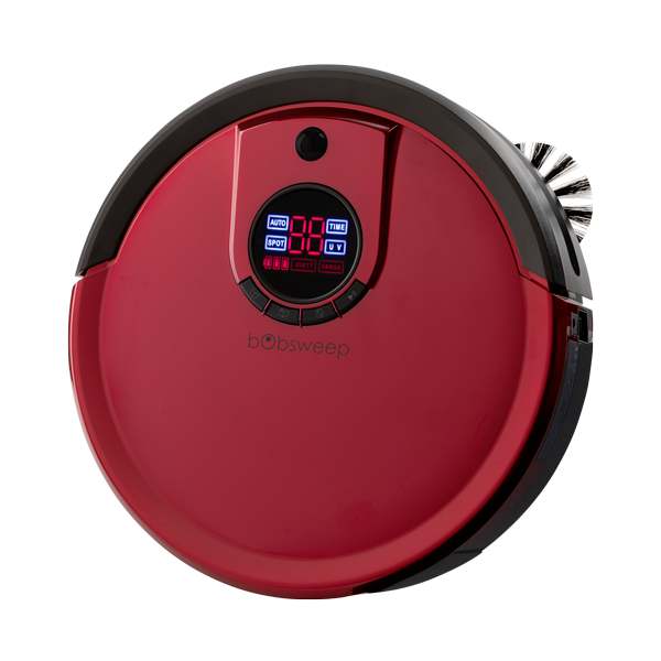 Bob Standard Robotic Vacuum Cleaner and Mop in rouge angled view