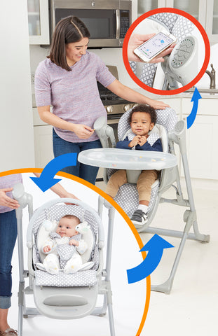 2-in-1 Smart Voyager Swing and High Chair