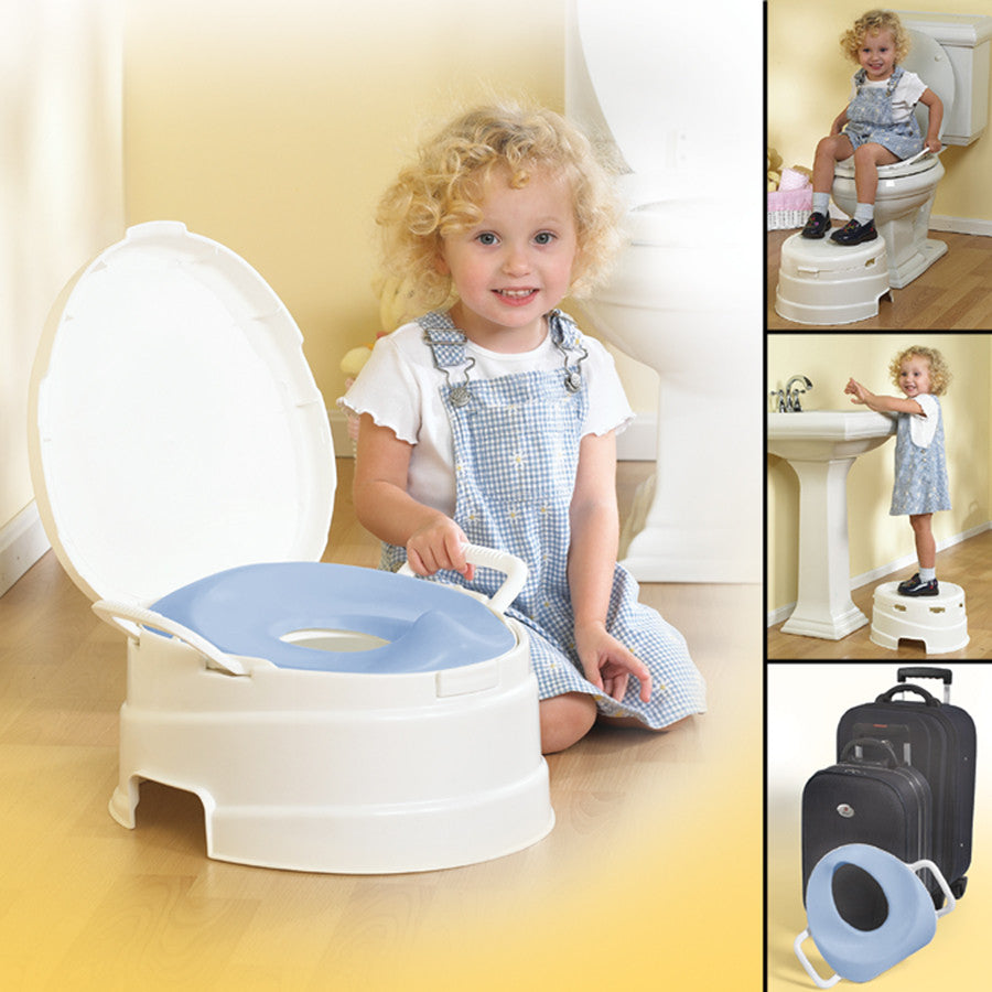 4-in-1 Soft Seat Toilet Trainer and Step Stool