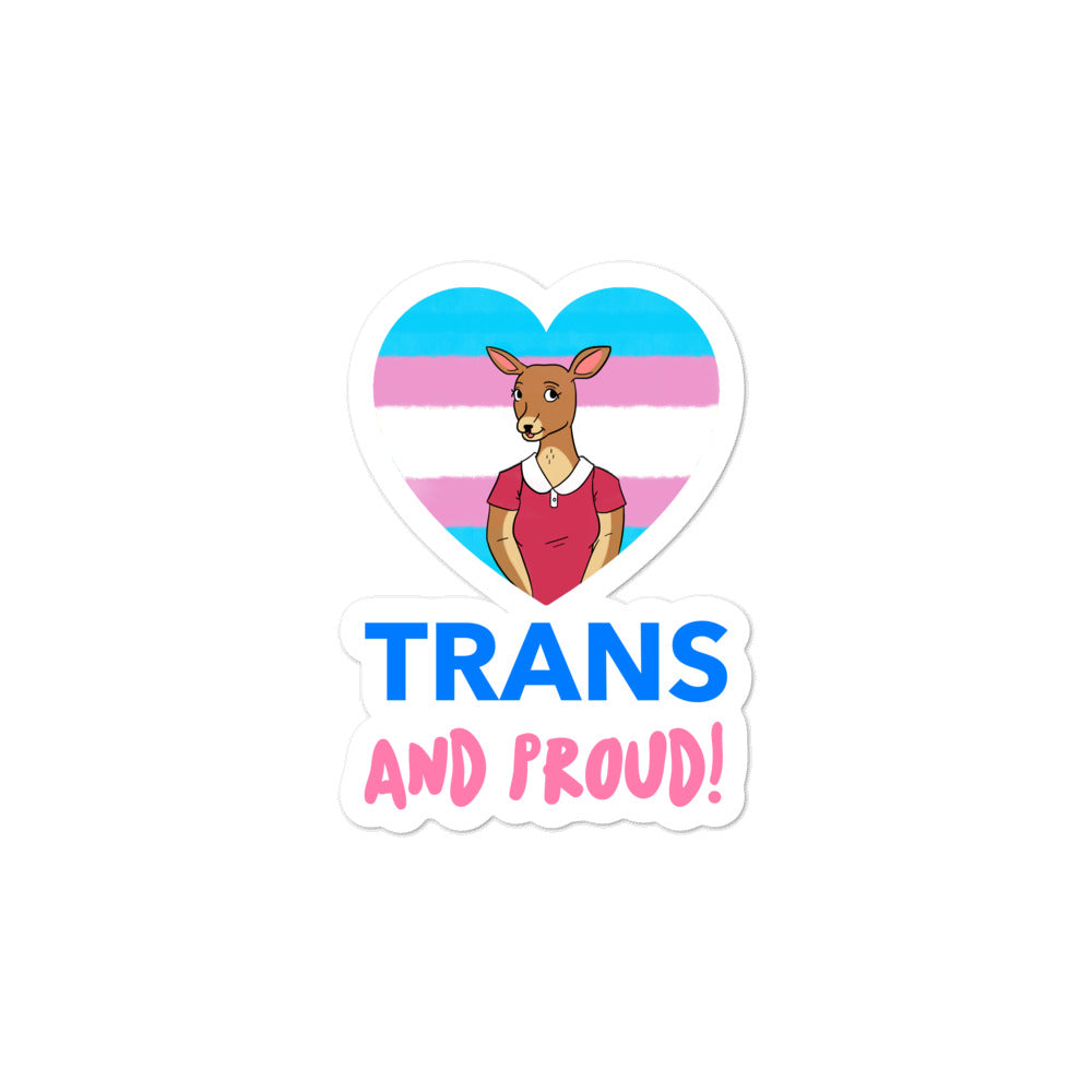 Trans & Proud Bubble-Free Stickers