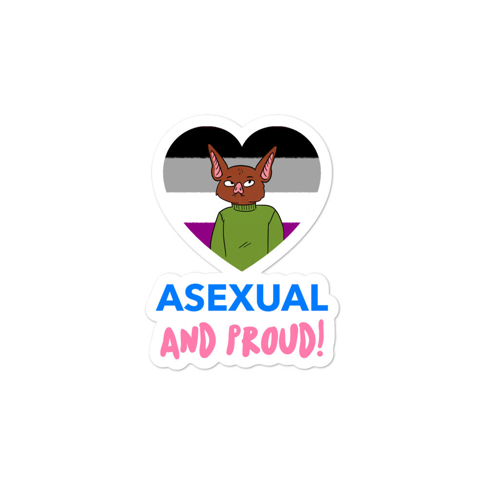 Asexual & Proud Bubble-Free Stickers