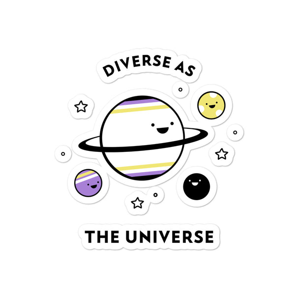 Diverse As The Universe Bubble-Free Stickers
