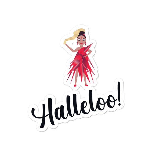 Halleloo! Drag Queen Bubble-Free Stickers