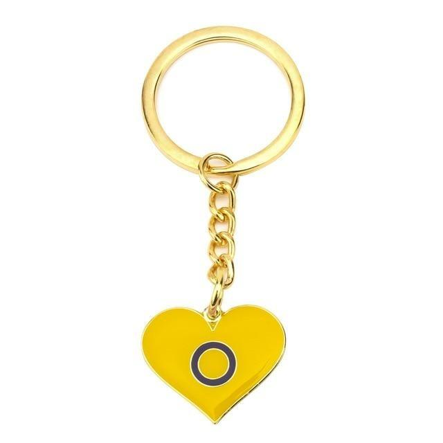 Intersex Pride Heart Keychain