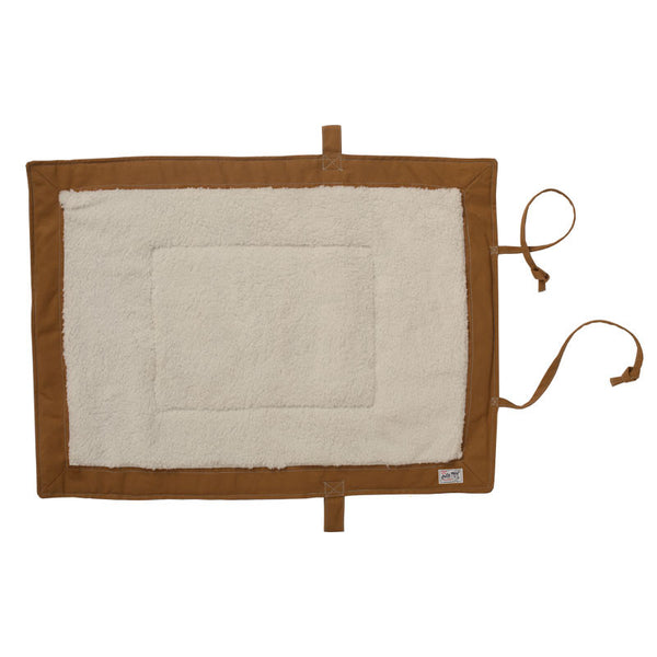 Billy Wolf Gunnar Khaki Canvas Travel Dog Mat