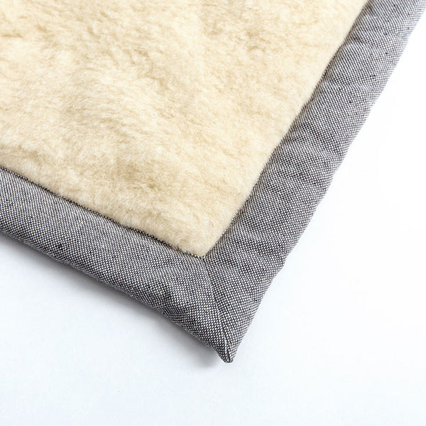 Cloud7 Grey Tweed Travel Dog Blanket