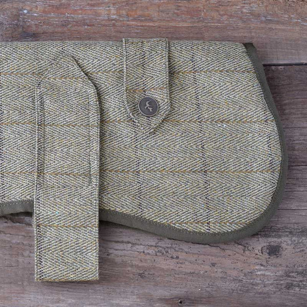 Country & Twee Wool Tweed and Sherpa Fleece Dog Coat
