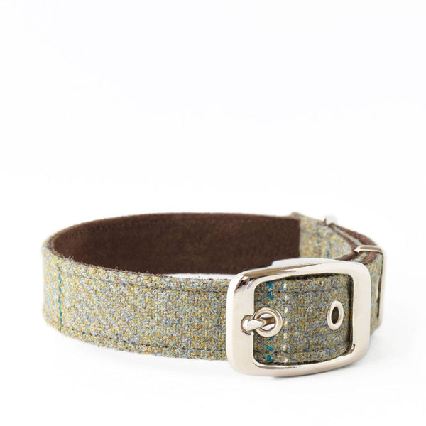Digby Tweed and Suede Collar