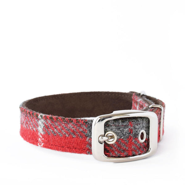 Hoxton Harris Tweed and Suede Collar