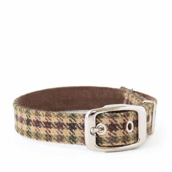 Sidworth Tweed and Suede Collar