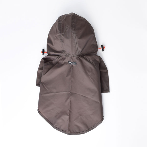 Wagwear Brown Rainbreaker Dog Coat
