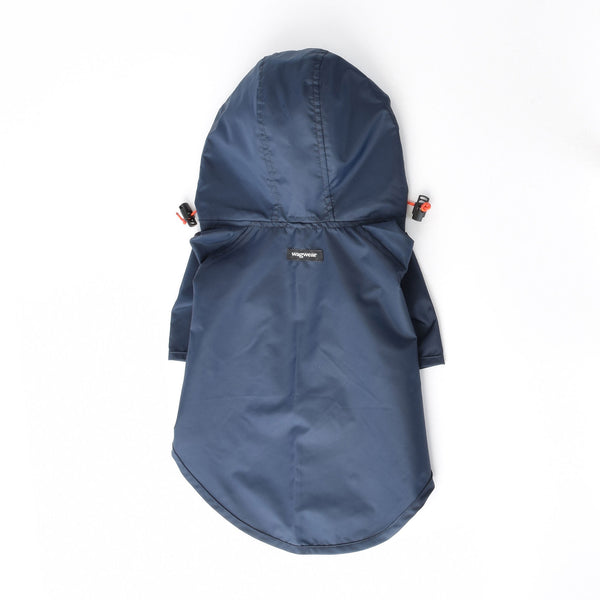 Wagwear Navy Rainbreaker Dog Coat
