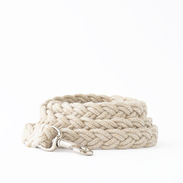 White Braided Fisherman Leash