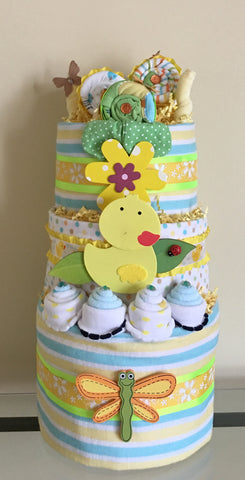 Little Ducks in a Row Baby Diaper Cake
