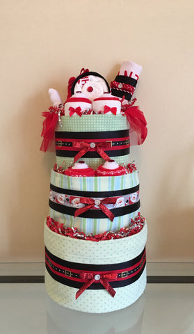 Christmas Baby Girl Diaper Cake