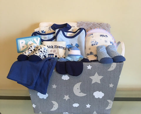 Toy Trains Little Boy Baby Gift Basket