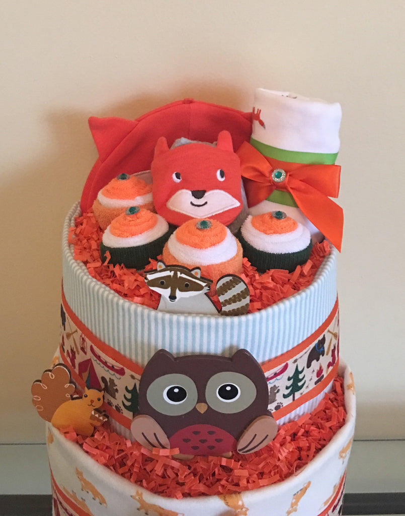 Baby Woodland Animals Diaper Cake