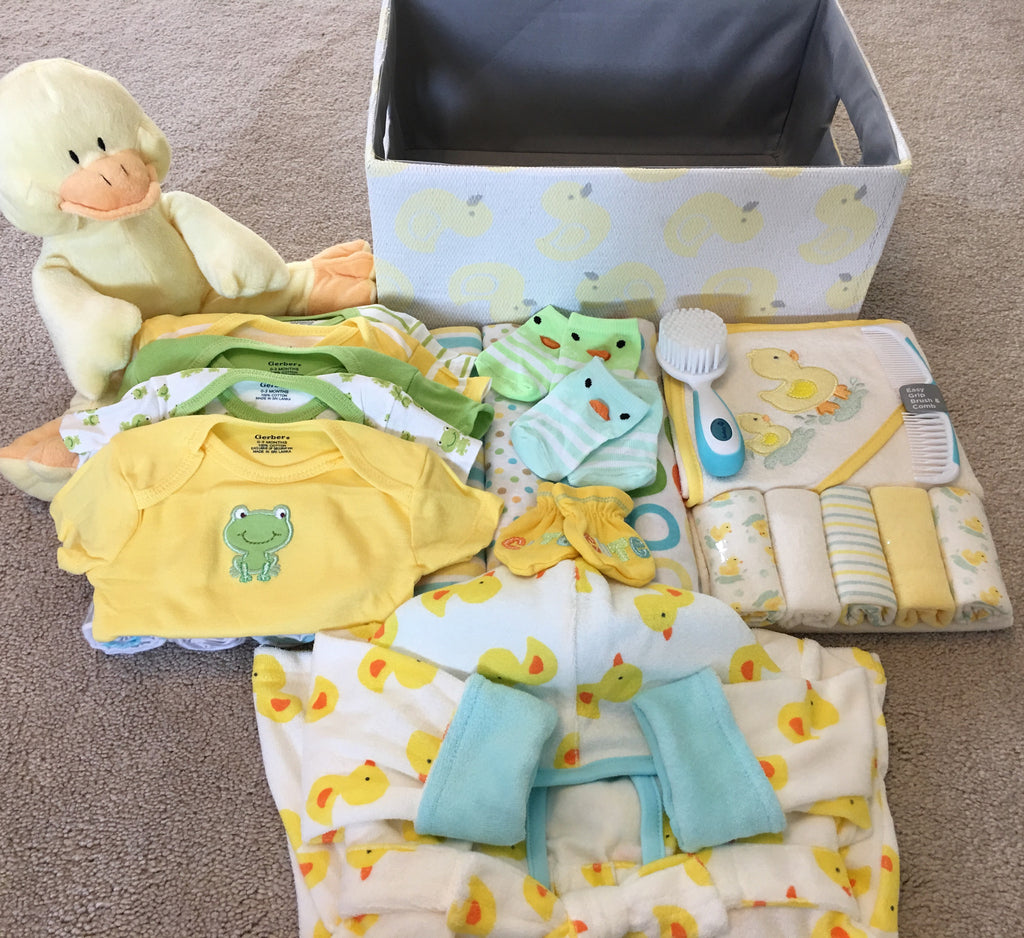 Spring Baby Duck Gift Basket