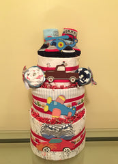 Airplanes and Cars Baby Boy Diaper Cake