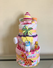 Jungle Safari Girl Diaper Cake