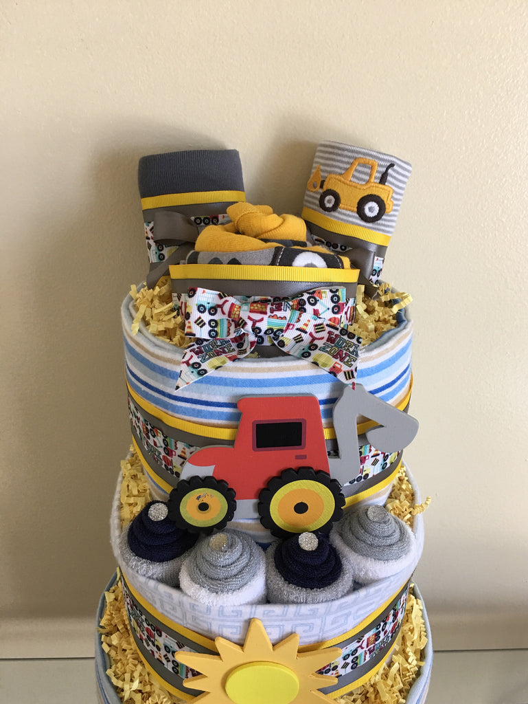 Mighty Machines Baby Diaper Cake