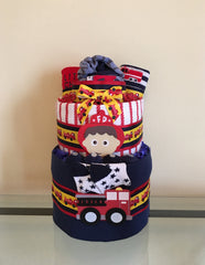 Fire Trucks Baby Boy Diaper Cake