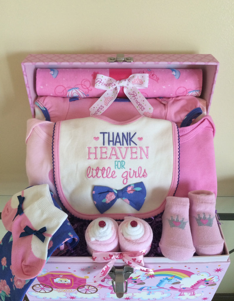 Princess Baby Girl Gift Basket