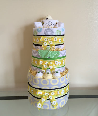 Busy Little Bee Baby Girl Diaper Cake