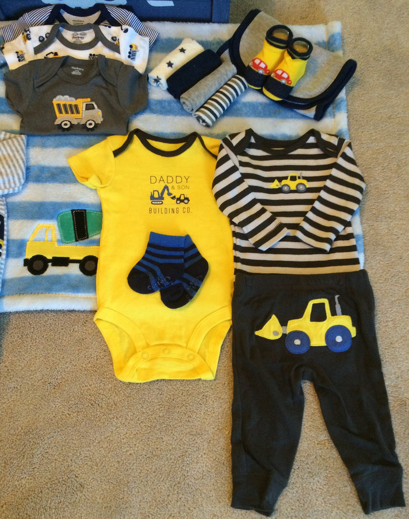 Mighty Machines Baby Boy Gift Basket