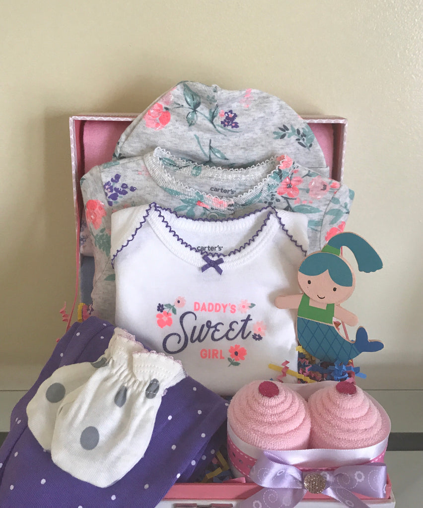 Little Mermaid Baby Girl Gift Basket
