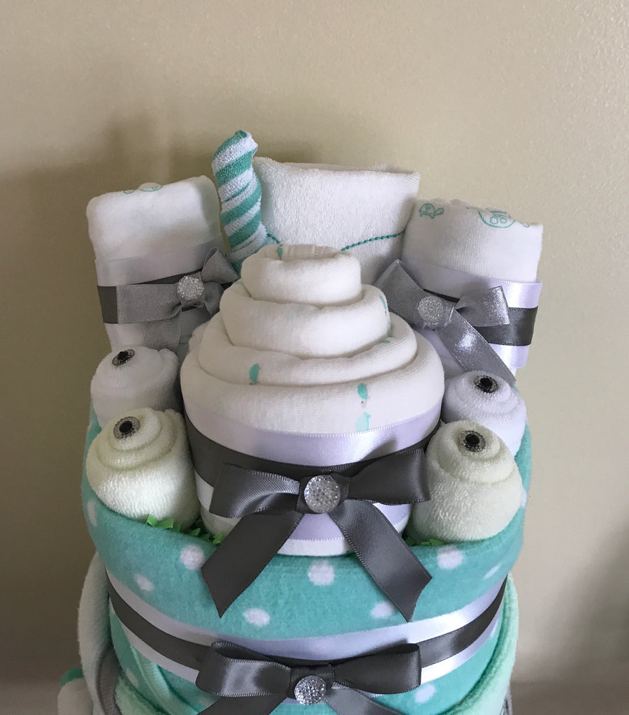 Little Turtle Baby Bath Diaper Cake