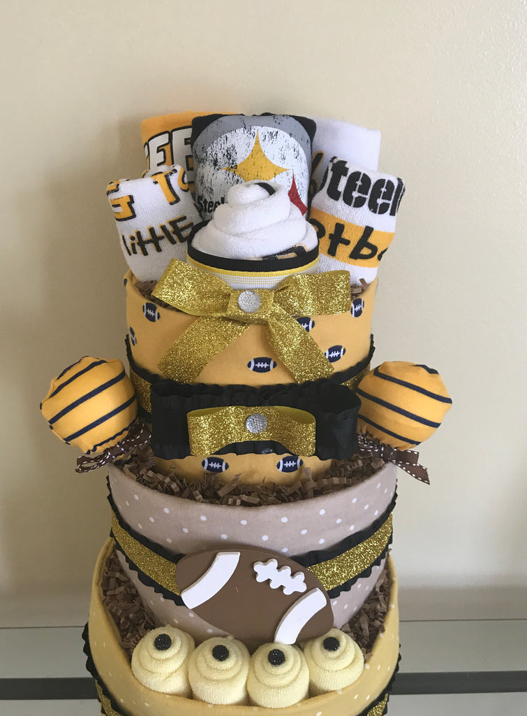 Pittsburgh Steelers Football Baby Boy Diaper Cake