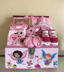 Fairy and Butterfly Kisses Baby Girl Gift Basket
