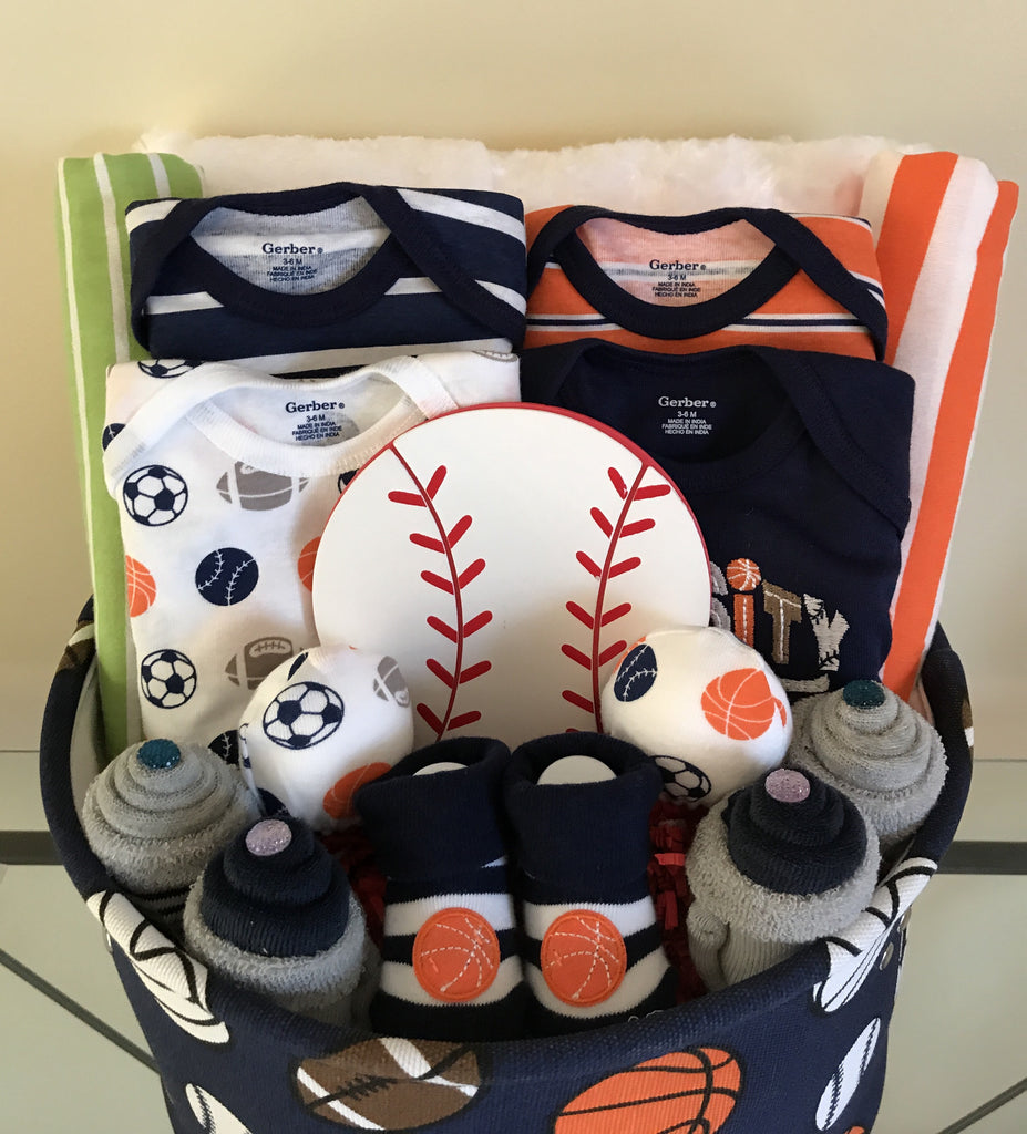 Sports Baby Boy Gift Basket