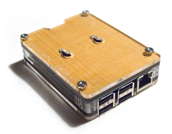 Zebra Maple SOLID Top ~ for Raspberry Pi 3, Pi 2, Pi B+ and Pi 2B