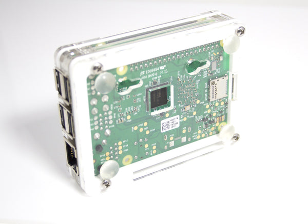 Zebra Arctic White ~ for Raspberry Pi3, Pi 2, Pi B+ and Pi2B (with Fan Option)