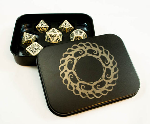DICE CHAMBER  Etched Metal Dice Holder  ~ Black ~ by C4Labs ~ 8 Designs & Colors