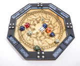 Dice Tray with Celtic Knot Design - Octagon & Round, Blue, Emerald, & Lime ~ Gaming