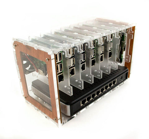 8 Slot Cluster Cloud: Stackable Cluster For Raspberry Pi and other Single Board Computers