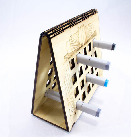 Art Deco Artist Pen Storage System for Copic II Brush/Nib Pens