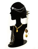 Roaring 20's Silhouette Acrylic Display Stand for Jewelry